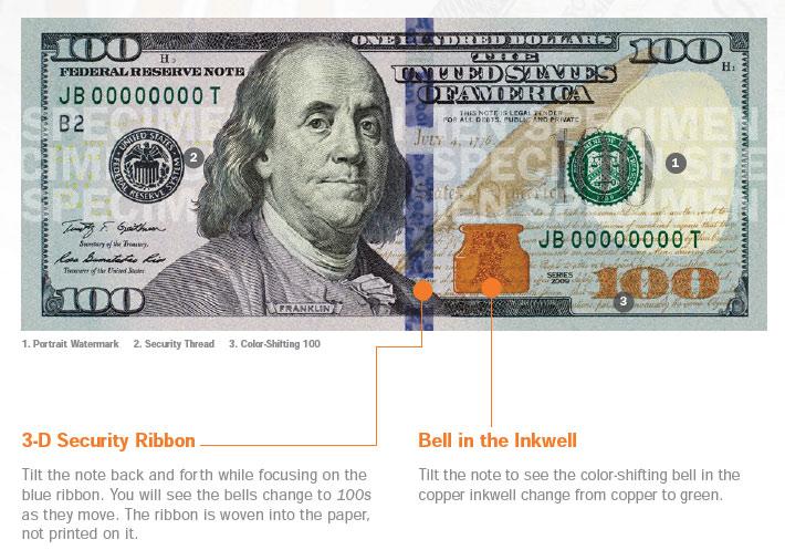 Как выглядит новая 100-долларовая банкнота (ФОТО) — Минфин