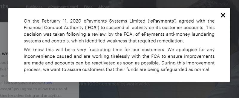 Платежный сервис ePayments заблокировал все счета пользователей. Деньги вывести нельзя