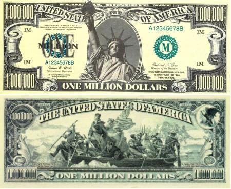 Мнение: США пора печатать банкноту в 1 миллион долларов — Минфин
