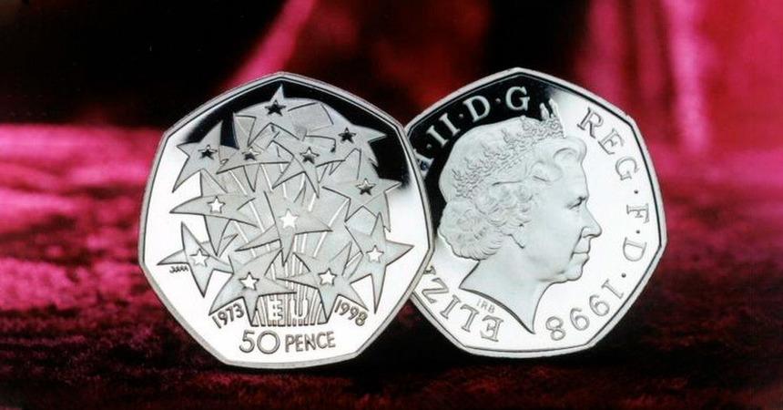 Общество: 31 октября 2019 года в обращение должна поступить новая монета номиналом 50 пенсов, посвященная выходу Великобритании из ЕС.
