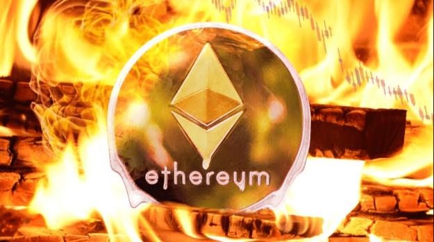 Скорость сжигания Ethereum за месяц выросла почти в два раза