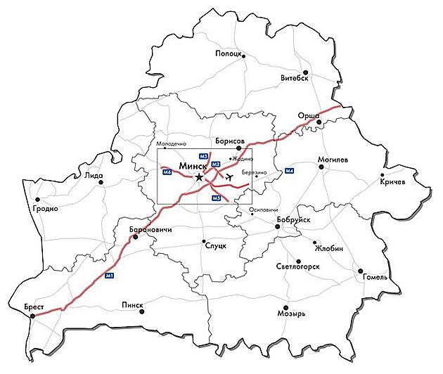 Схема платных дорог.